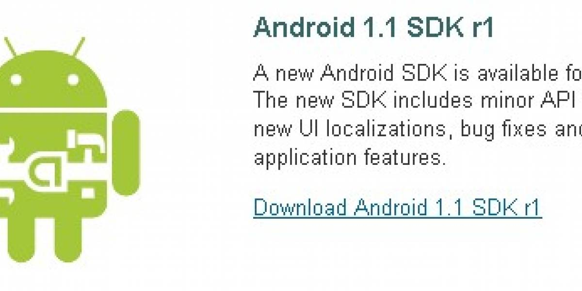 Disponible Android 1.1 SDK r1 para los desarrolladores