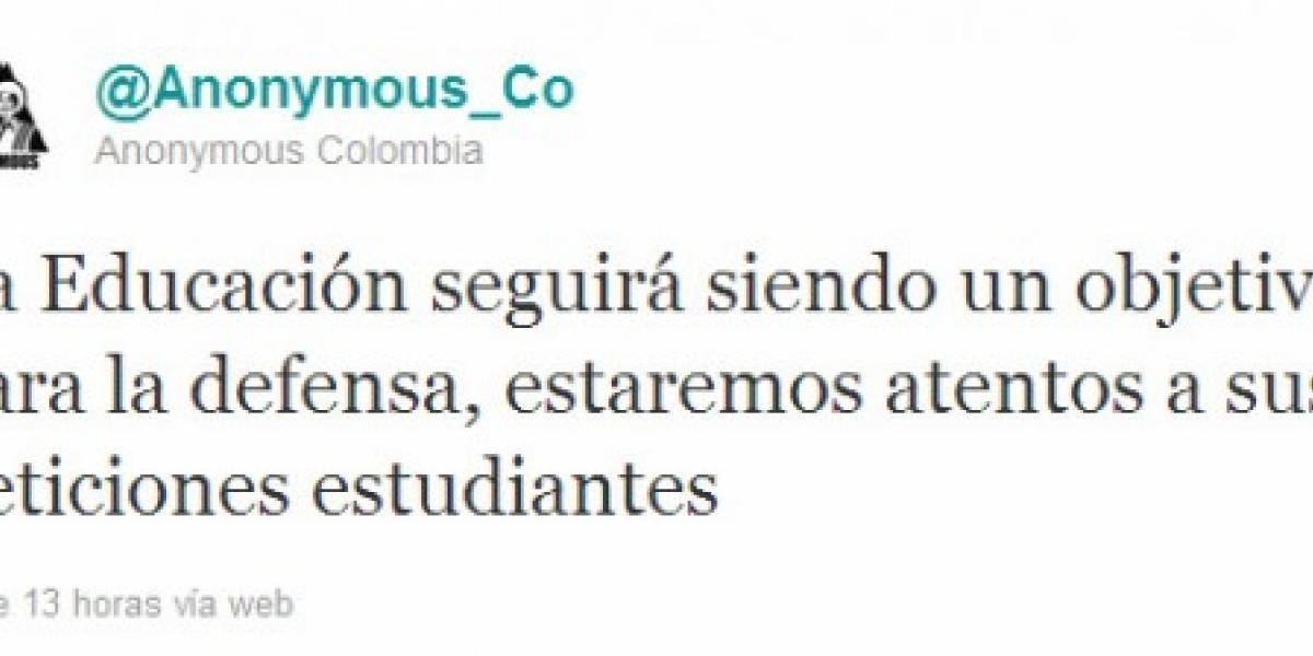 Anonymous atacó sitios del gobierno de Colombia por reforma a la educación