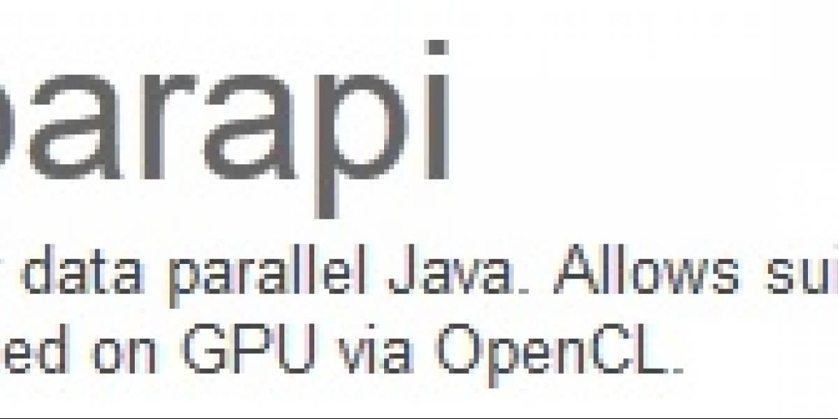 AMD Aparapi: Java acelerado por GPU