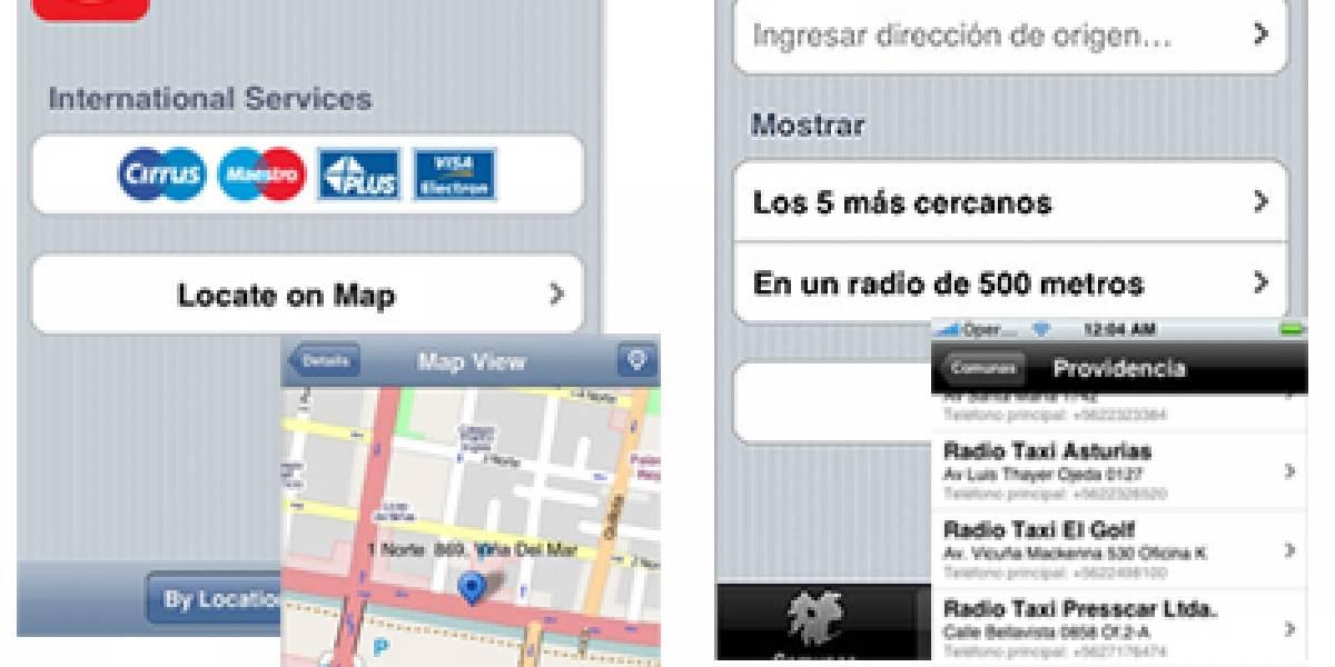 iDev te ayuda a encontrar cajeros y taxis en Chile