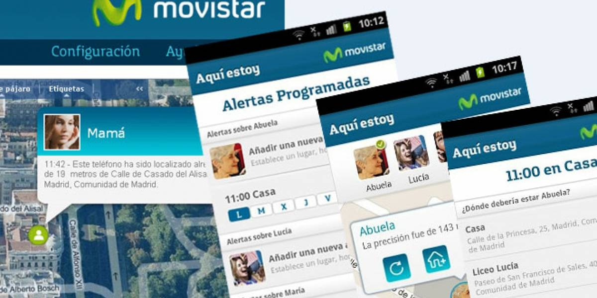 España: Movistar lanza 'Aquí estoy' un servicio de geolocalización de familiares