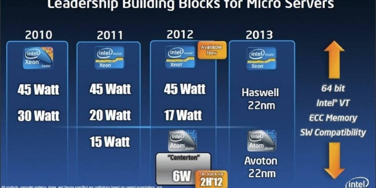 Intel Avoton: Atom a 22nm para servidores llega el 2013