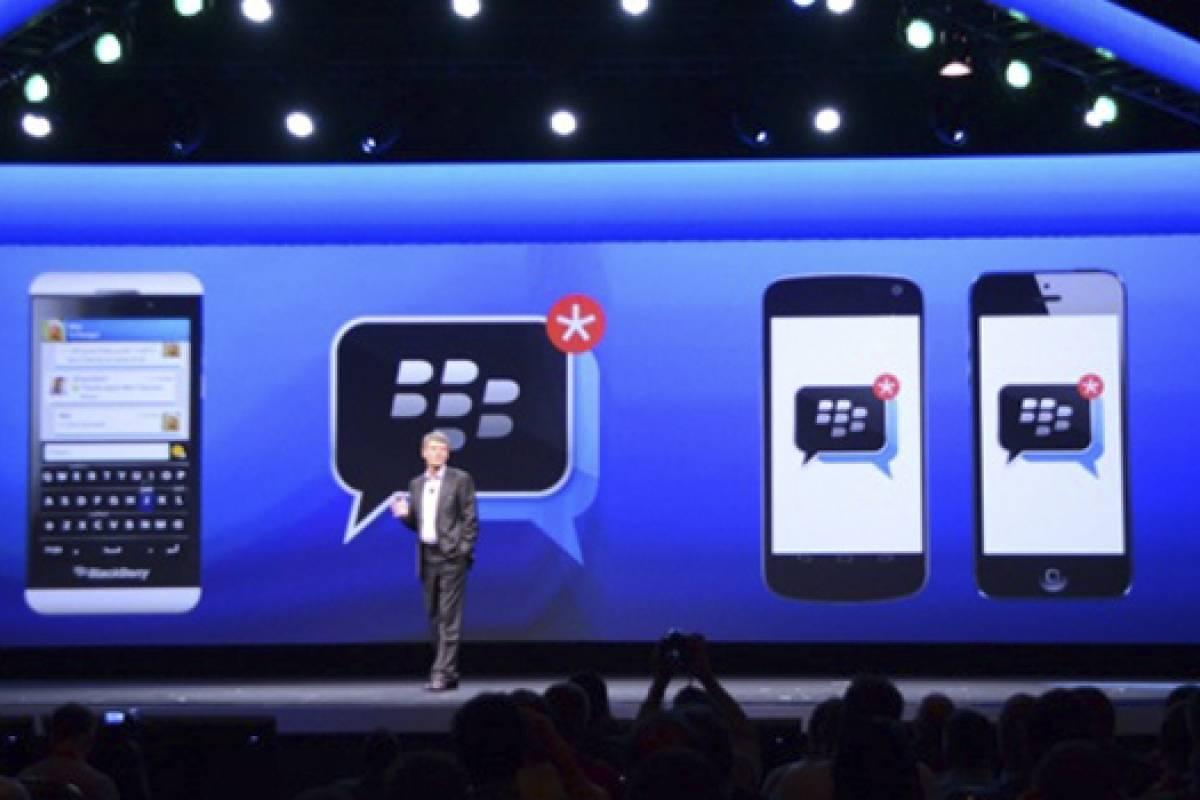 ¡Sorpresa! BlackBerry Messenger estará disponible para iOS y Android gratis
