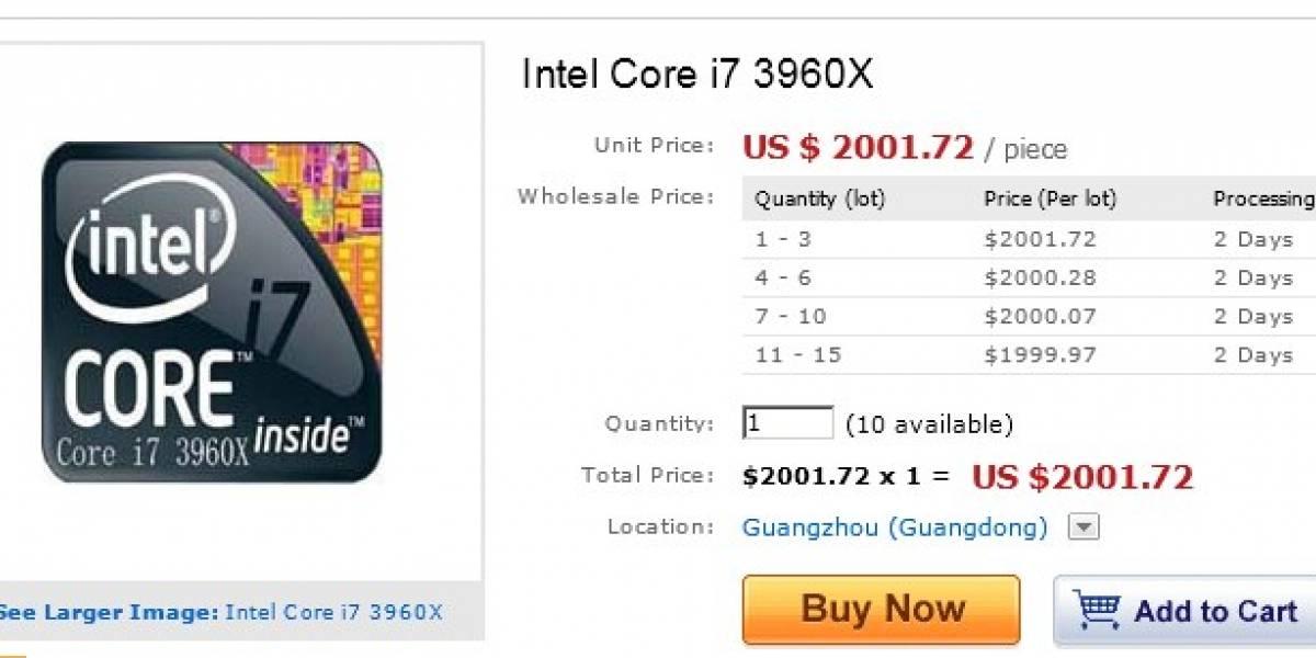 Intel Core i7 3960X a la venta en China