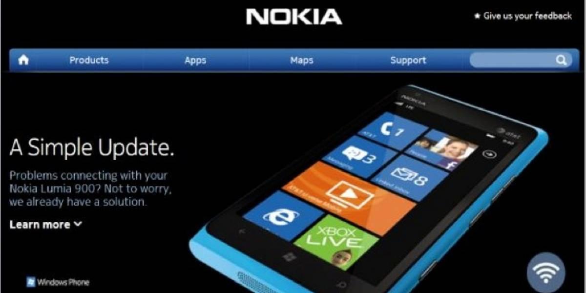 """Nokia resolvió el problema de conectividad del Lumia 900 con una """"simple actualización"""""""
