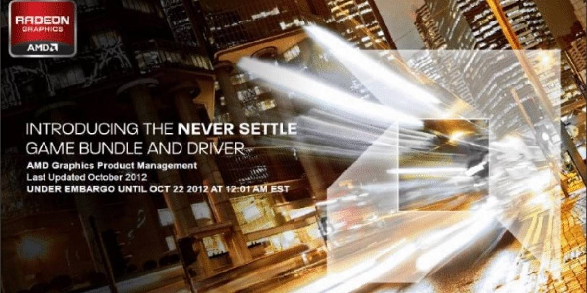 AMD Never Settle: Catalyst 12.11 + juegos gratis para las Radeon HD 7000 Series