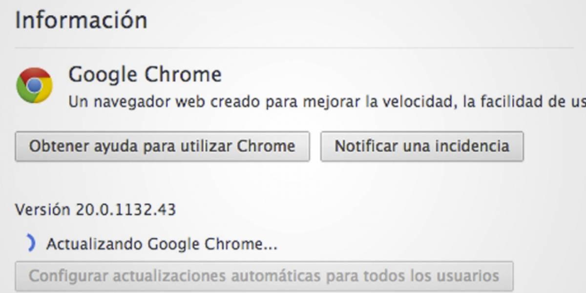 Llegó Google Chrome versión 20, festejan los usuarios de Mac OS X y Linux