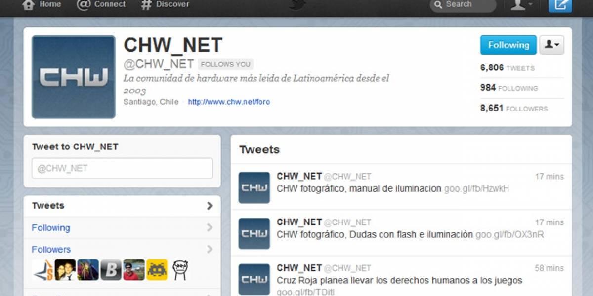 Twitter empuja su total renovación de interfaz en todas partes
