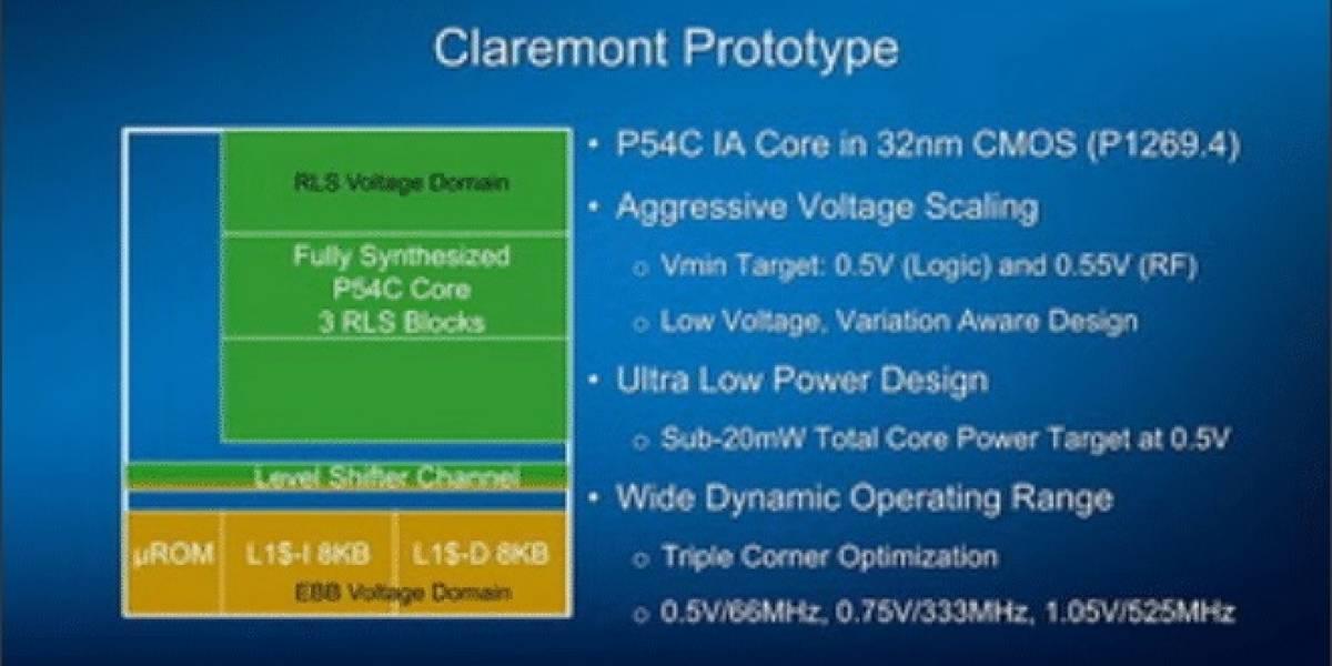 Intel muestra los avances en su proyecto Claremont
