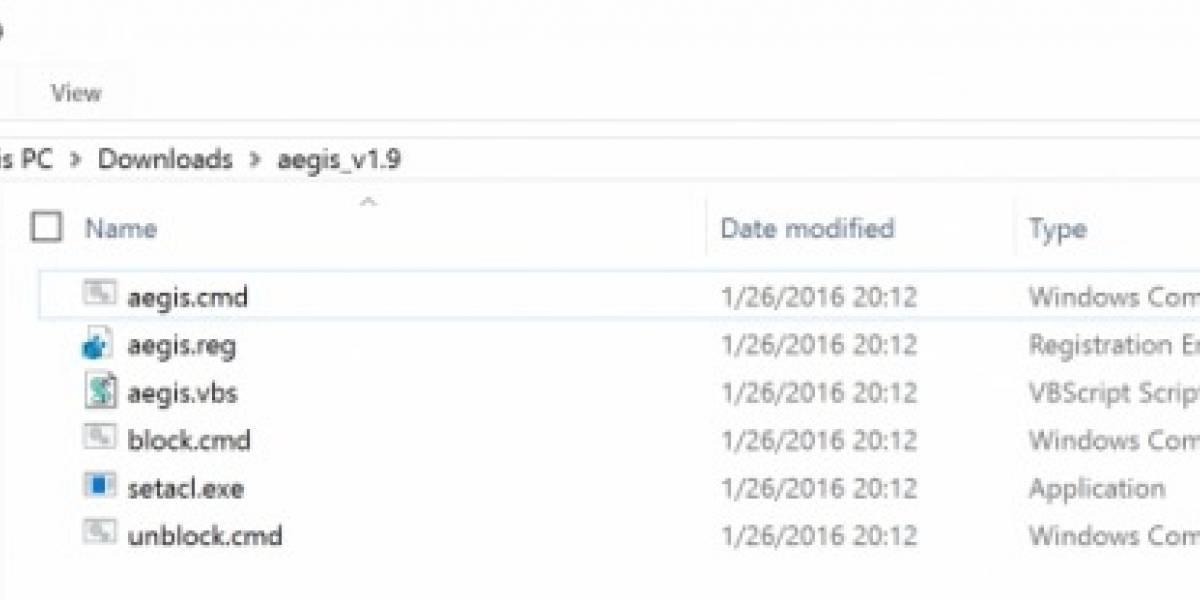 Aegis es la opción definitiva para evitar la actualización a Windows 10