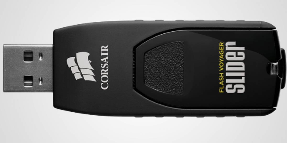 CTX2012: Corsair lanza memorias flash USB 3.0 Flash Voyager Slider