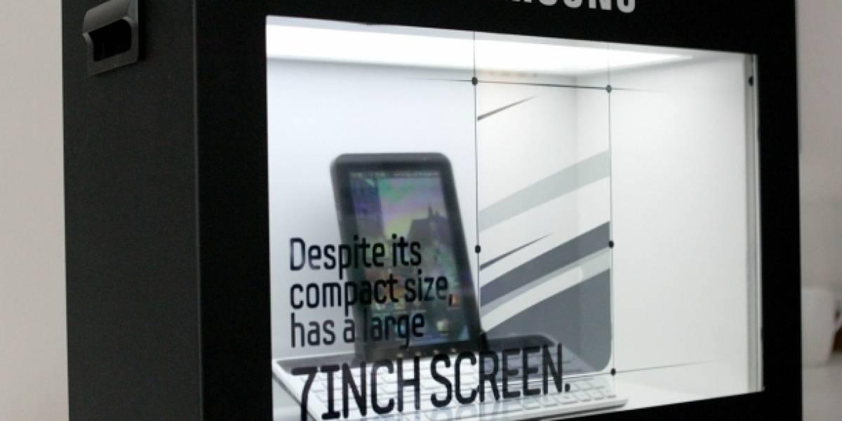 Samsung muestra su pantalla transparente