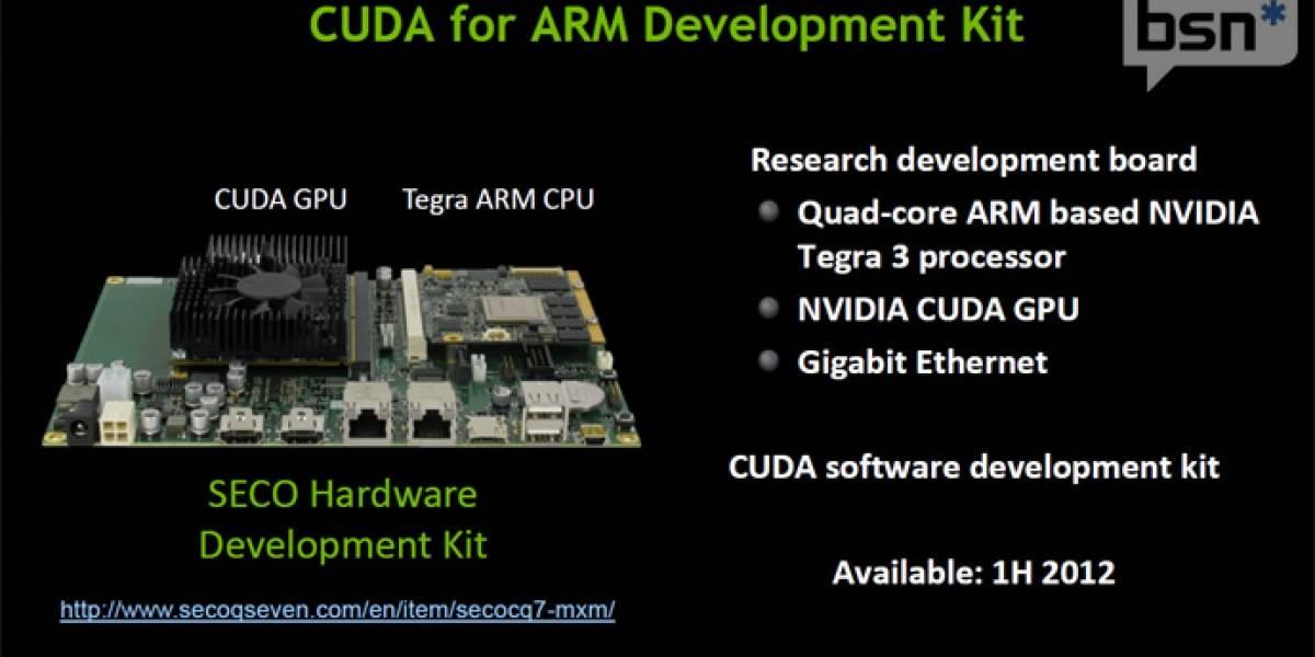 Nvidia anuncia CUDA para ARM