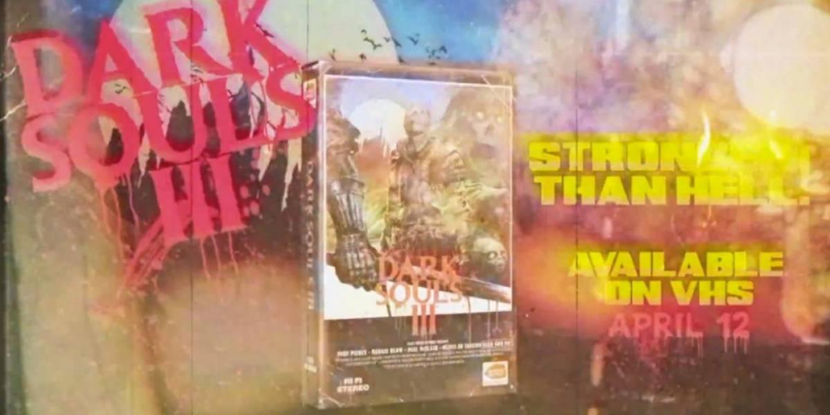 Dale un toque retro a tu Dark Souls III con esta portada estilo VHS descargable