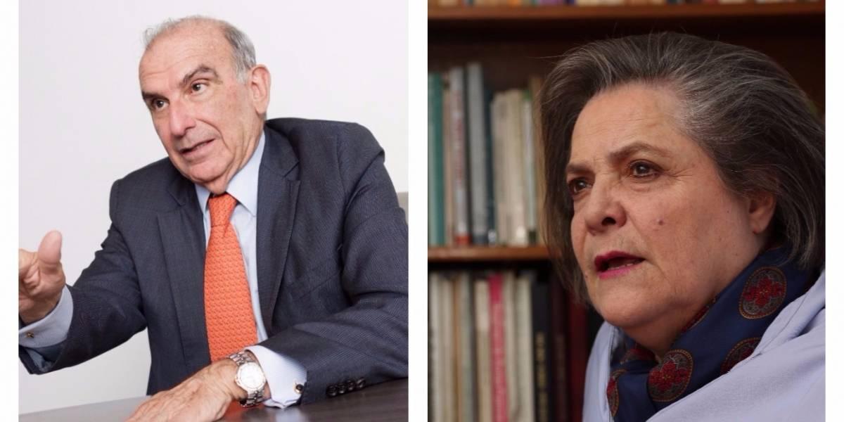 Así fue el reclamo de Clara López a Humberto de la Calle luego de que este apoyara el voto en blanco
