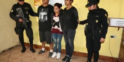 capturados con pistola en Mixco