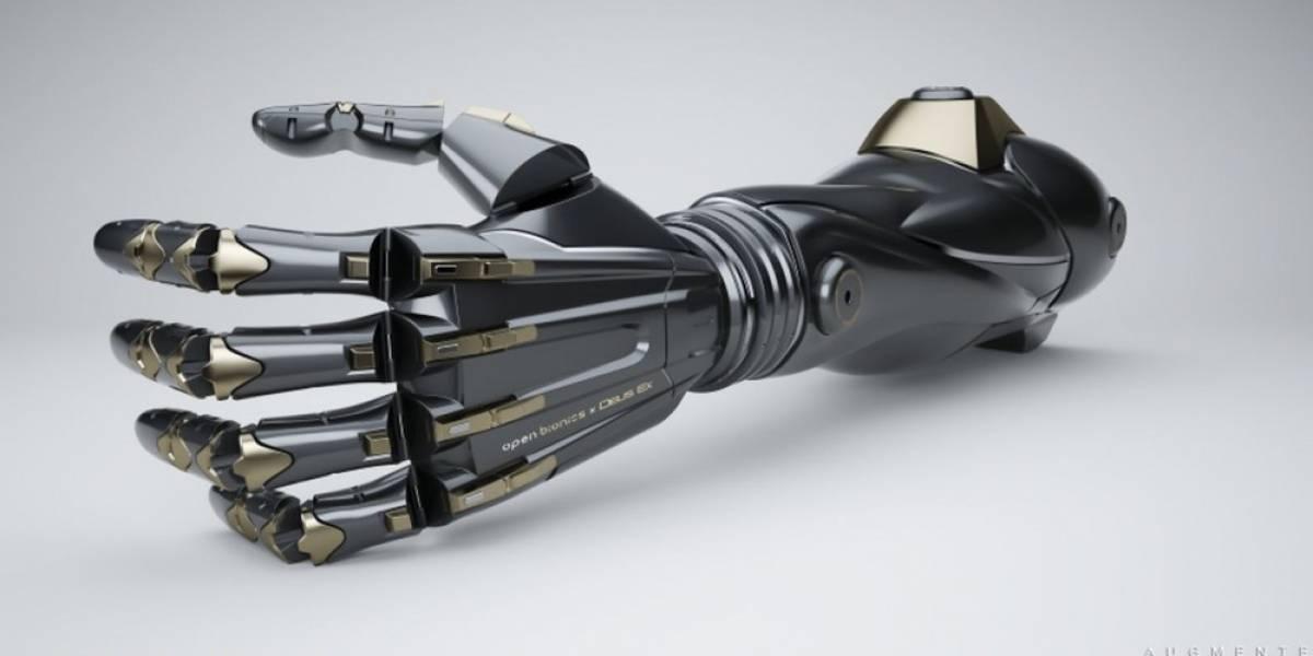 Fabricarán prótesis de mano inspiradas en Deus Ex