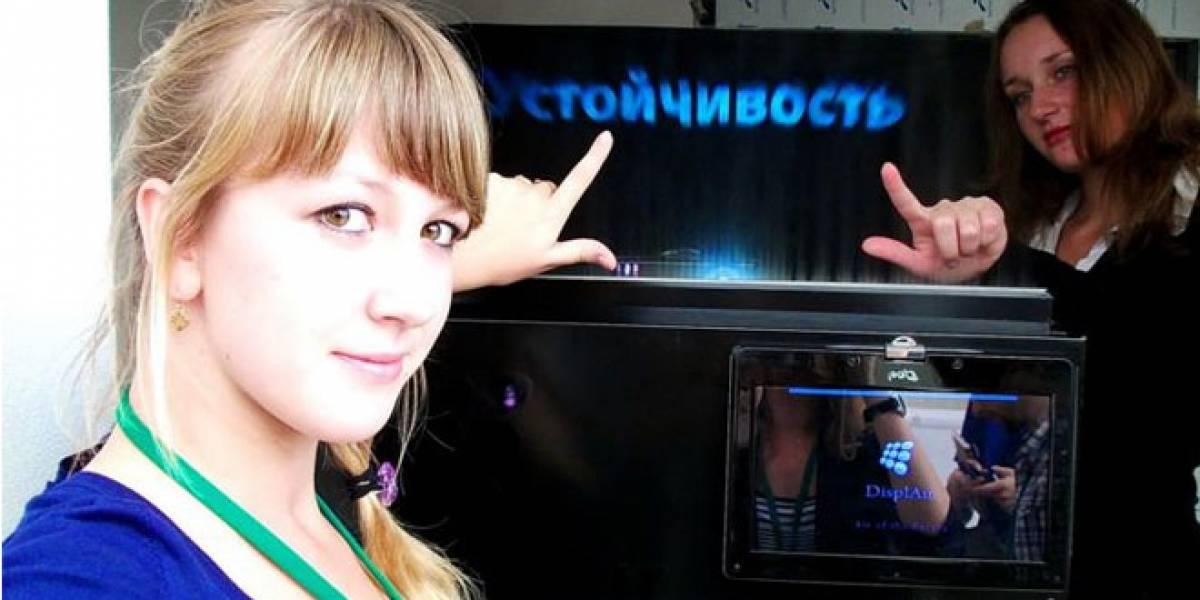 Rusos de Displair ofrecen hologramas táctiles, reales y funcionales.