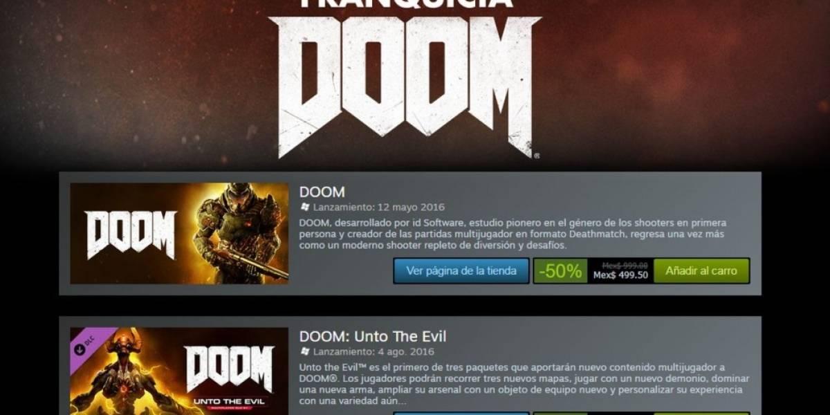 La franquicia DOOM está de oferta en Steam