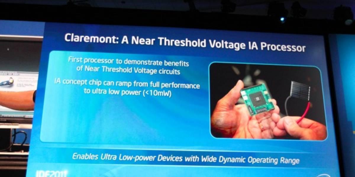 Claremont de Intel: Procesadores de ultra-bajo consumo energético