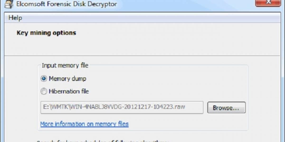 ElComSoft Forensic Disk Decryptor desbloquea archivos con encriptación BitLocker/PGP/TrueCrypt