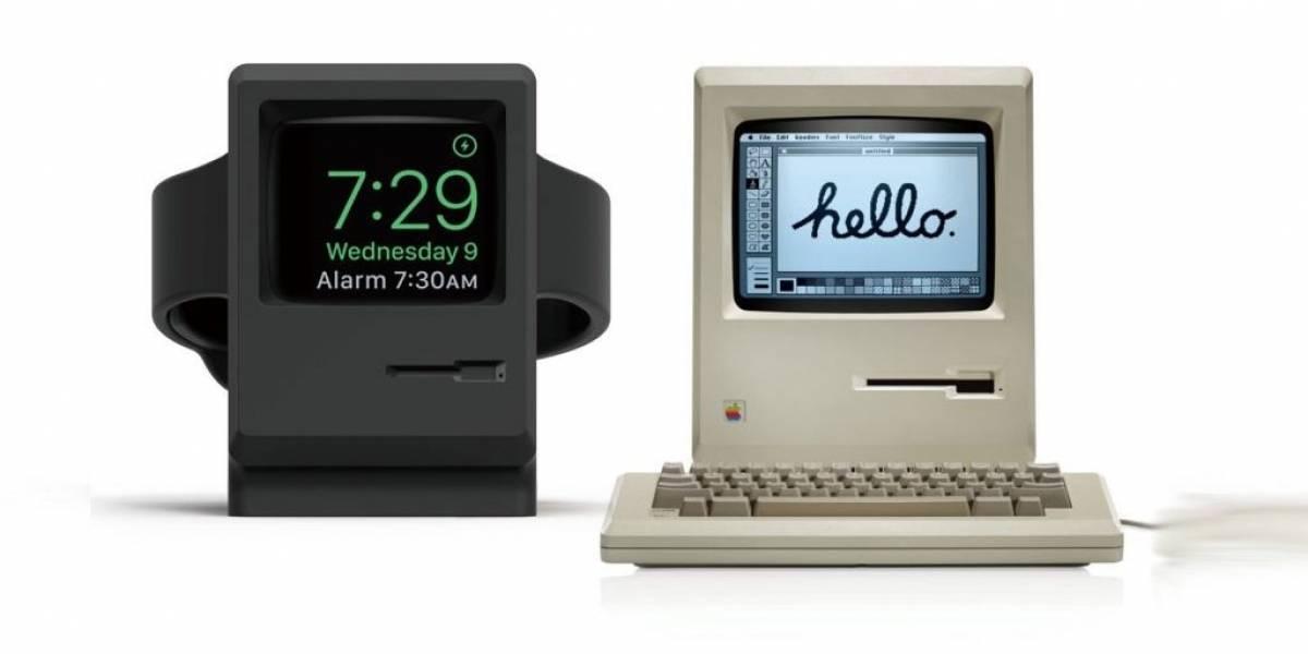 Esta base convierte tu Apple Watch en una clásica Macintosh 128K