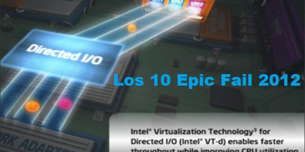 Los 10 mayores Epic Fail tecnológicos del 2012