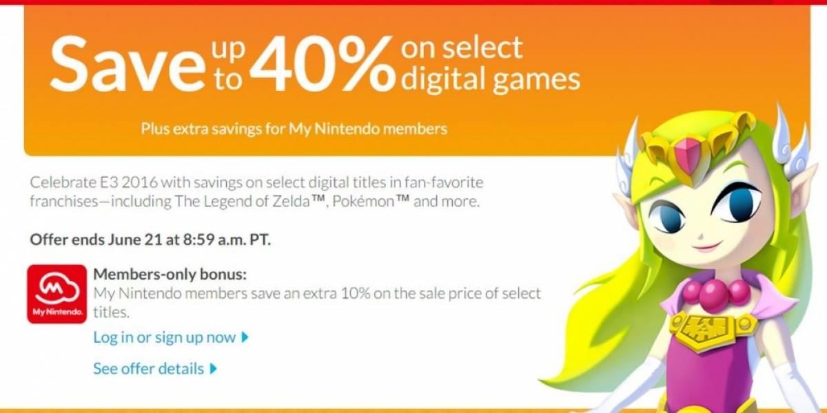 Nintendo tiene venta especial de E3 en la eShop