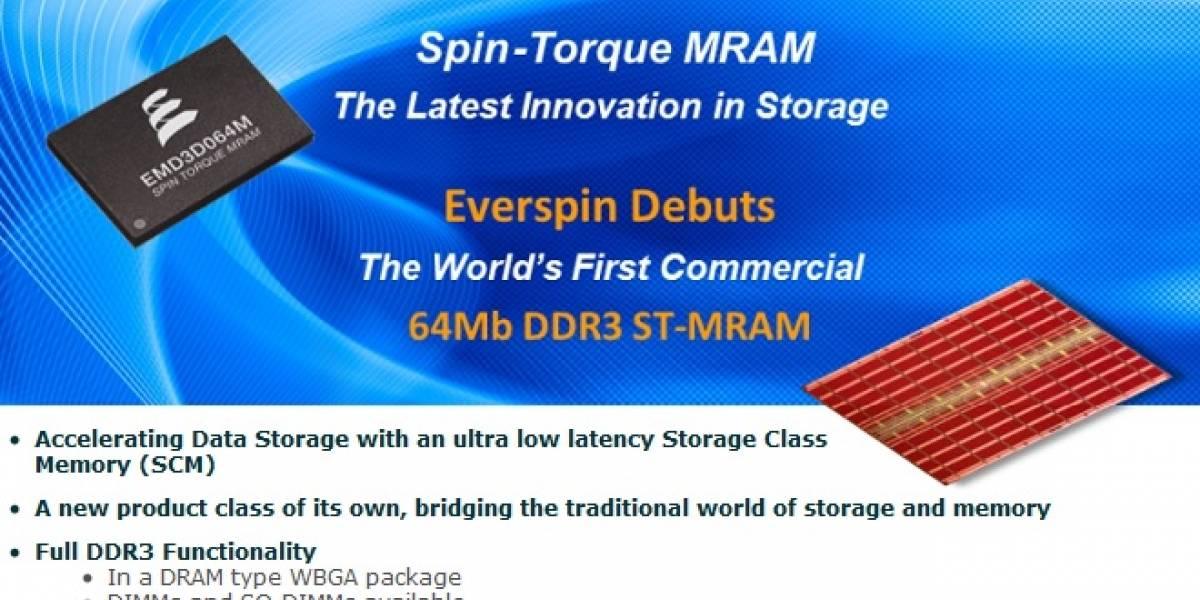 Everspin promete unidad de 8GB con una velocidad 500 veces superior a los SSD NAND