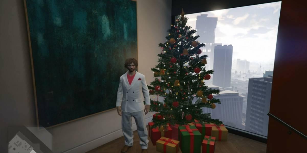 Filtran contenido navideño de GTA Online