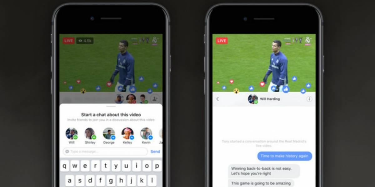 Facebook Live introduce nuevas experiencias para los videos en directo