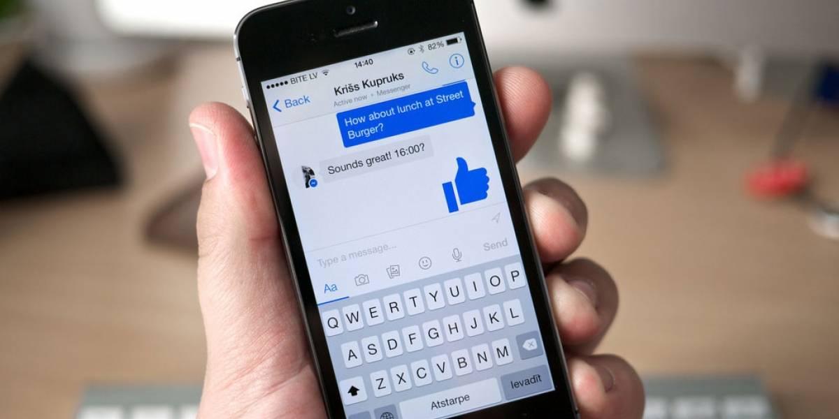 Ahora puedes enviar SMS en Facebook Messenger