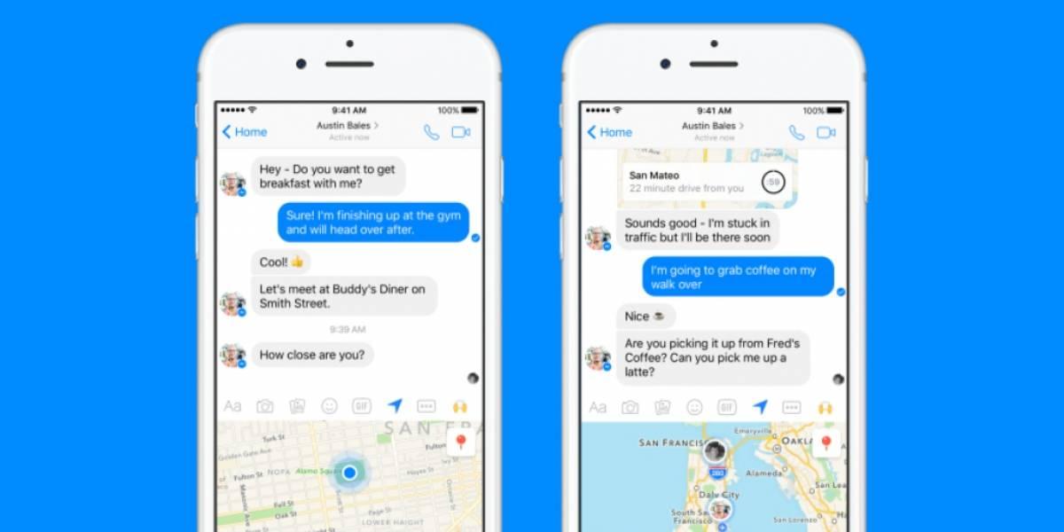 Facebook Messenger ya te permite compartir tu ubicación