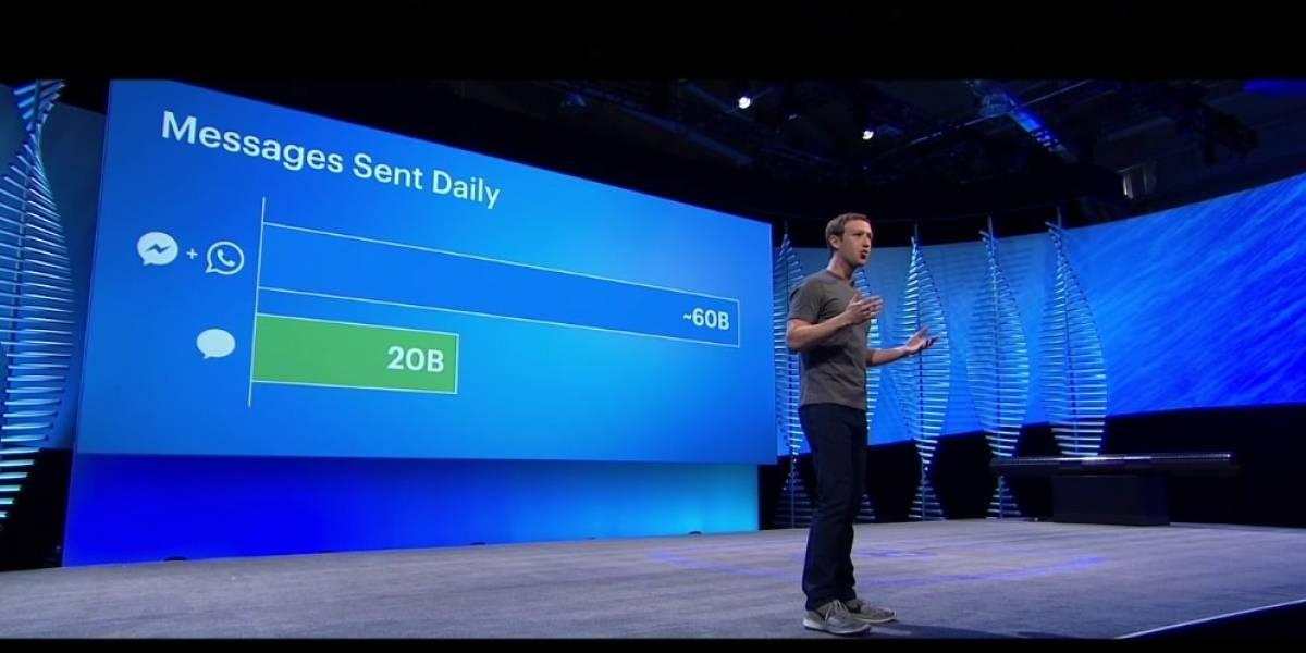 WhatsApp y Facebook Messenger generan 60 mil millones de mensajes al día