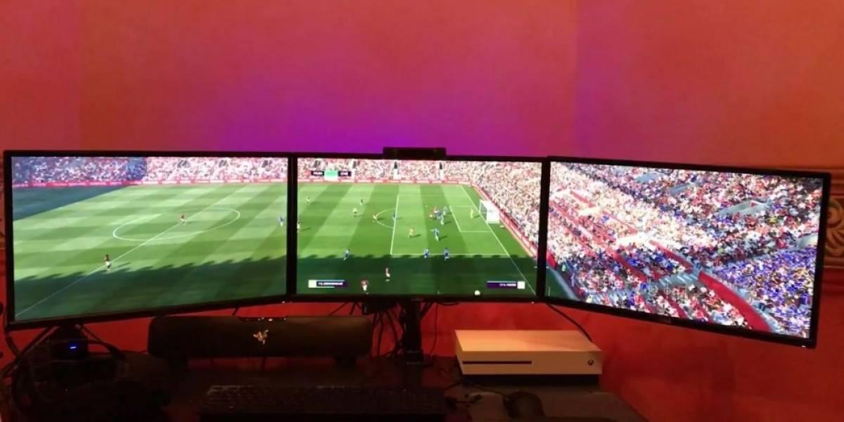 Así luce FIFA 17 cuando se juega en tres pantallas