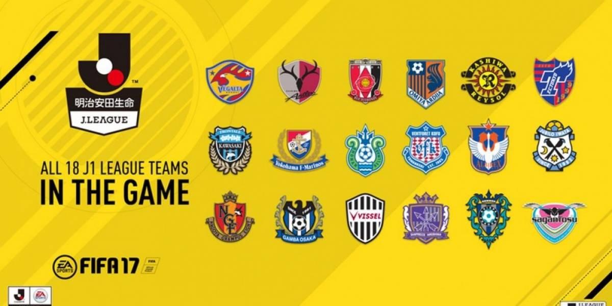 FIFA 17 incluirá la liga japonesa