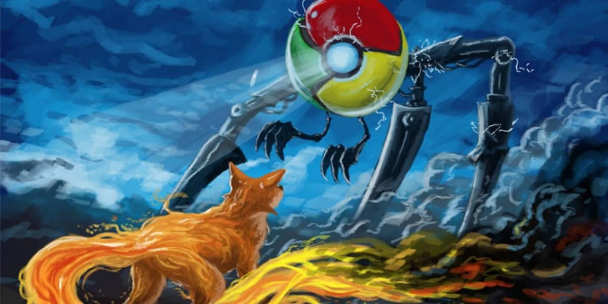 La tendencia dice que Chrome pronto sobrepasará a Firefox