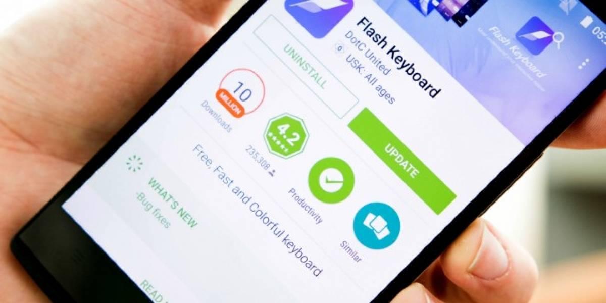 Flash Keyboard para Android recolecta información de sus usuarios