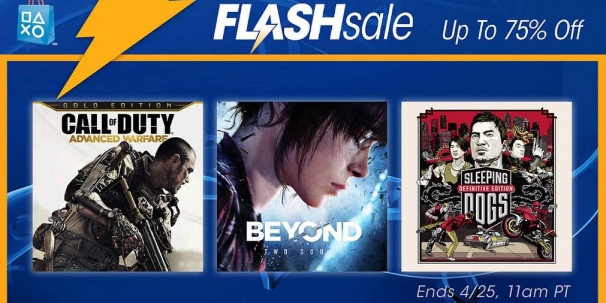 Venta Relámpago en PSN con ofertas en juegos de acción