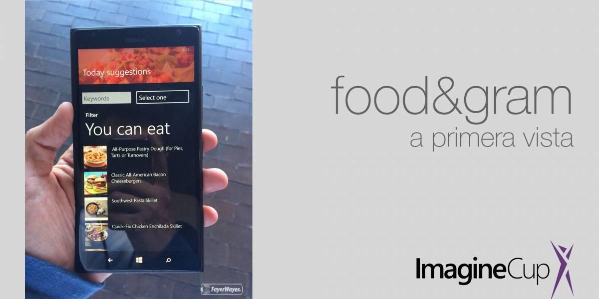 Food&Gram, la app que le da sentido a las fotos de tus alimentos #ImagineCup