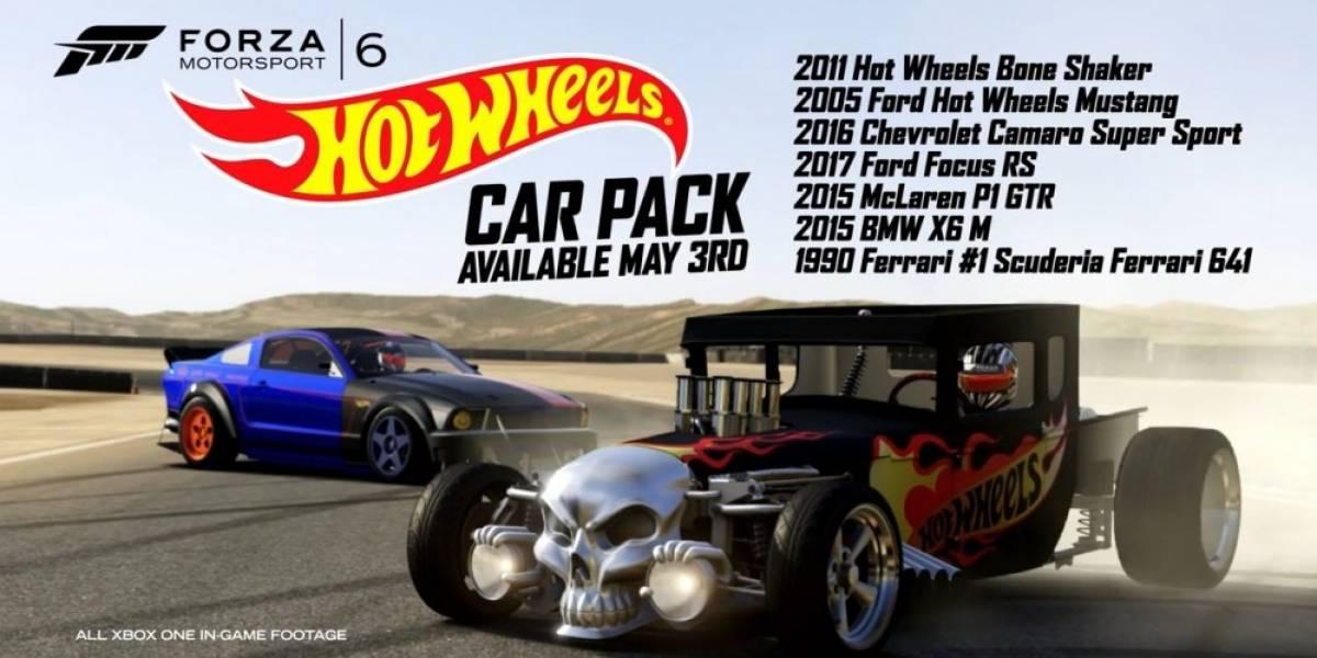 Paquete de autos de Hot Wheels llega a Forza Motorsport 6