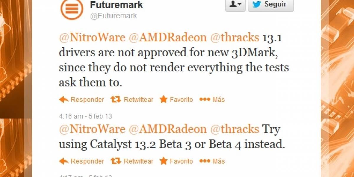FutureMark: ¡Catalyst 13.1 WHQL no están aprobados para 3DMark!