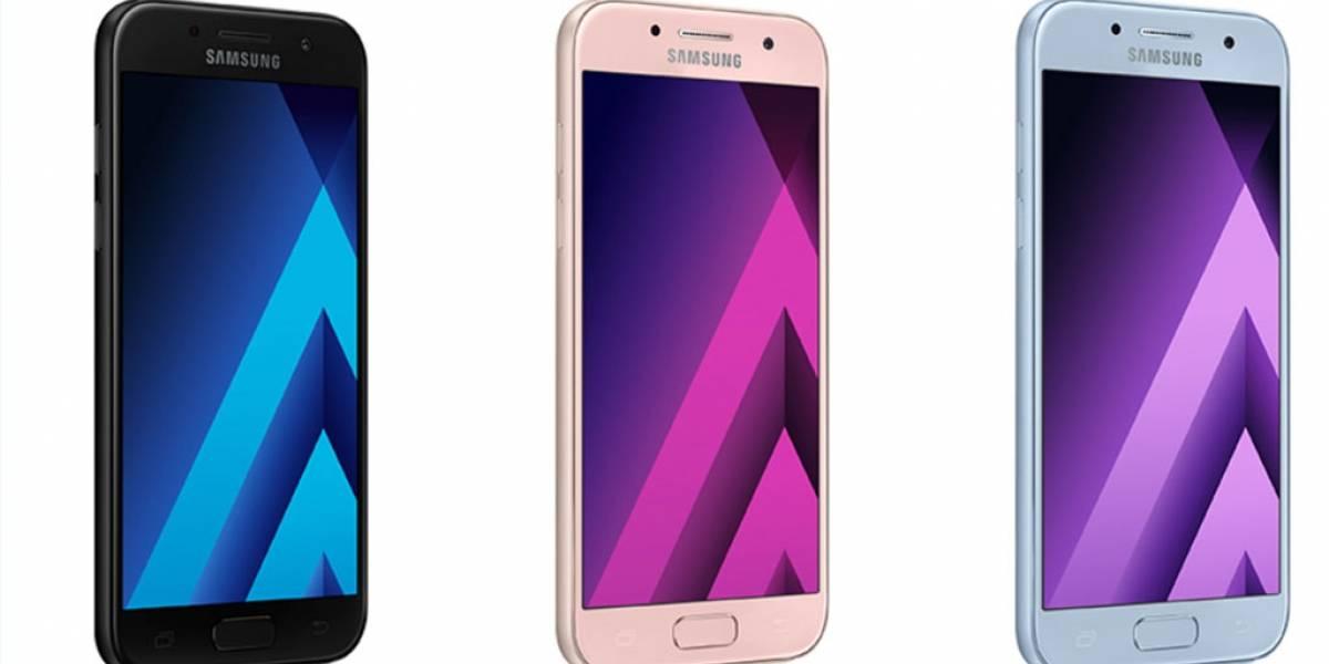Galaxy A3, Galaxy A5 y Galaxy A7 2017 ya disponibles en México con Telcel