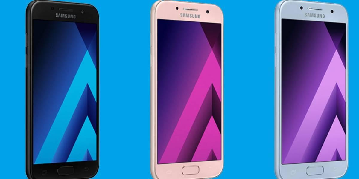 Llegan a México el Samsung Galaxy A3, Galaxy A5 y Galaxy A7 2017
