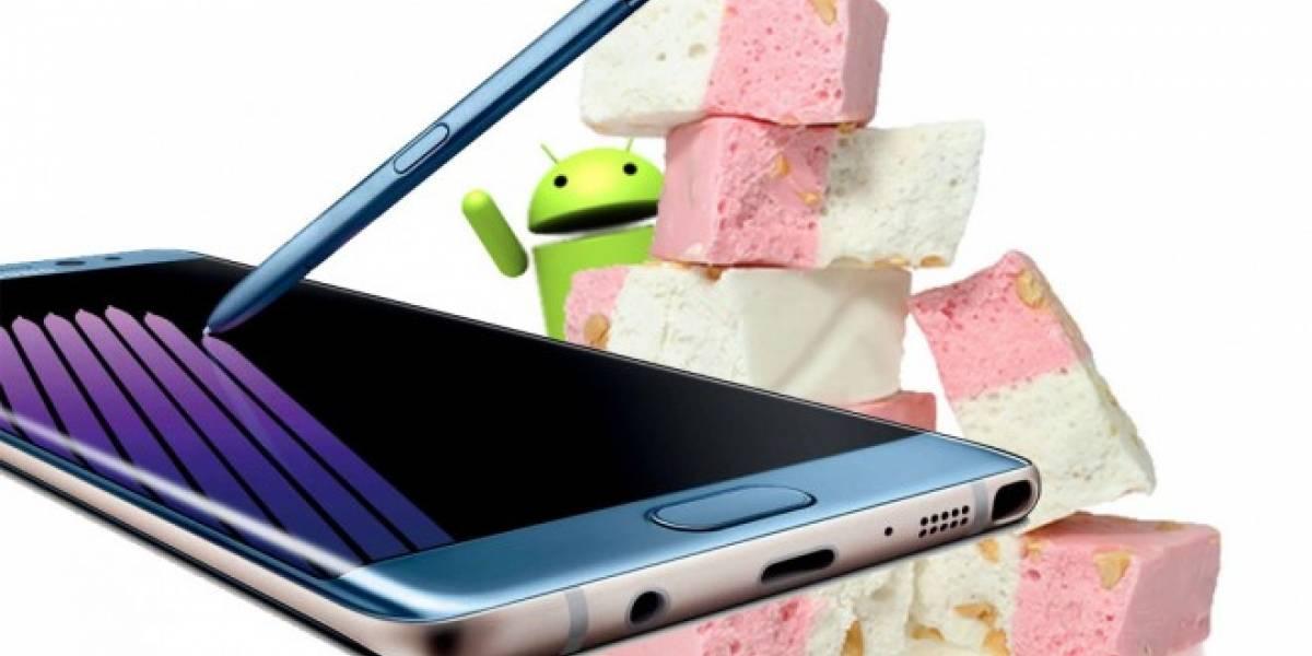 Android Nougat llegará al Galaxy Note 7 poco después de su lanzamiento