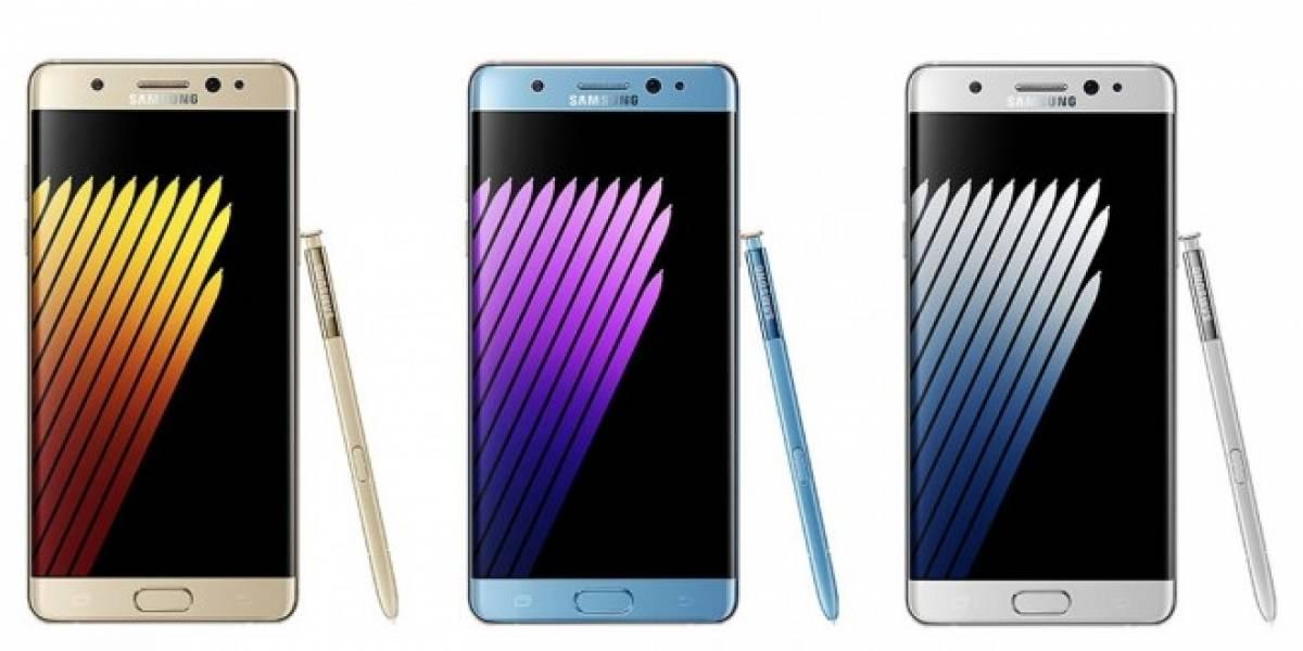 Se filtran imágenes del Samsung Galaxy Note 7 en tres colores