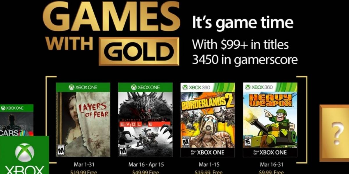 Games with Gold en marzo: Borderlands 2, Evolve y más