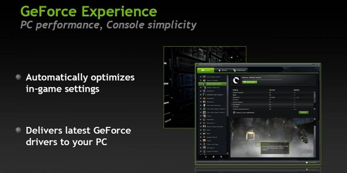 NVIDIA lanza su utilidad GeForce Experience Beta