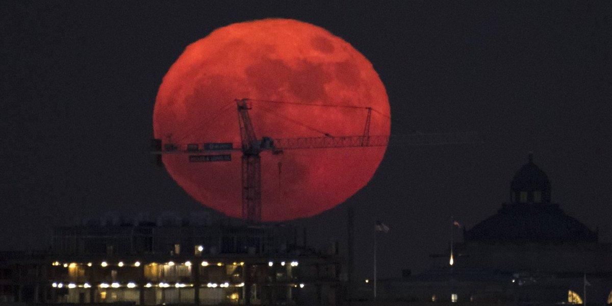 De esta manera se vio la luna