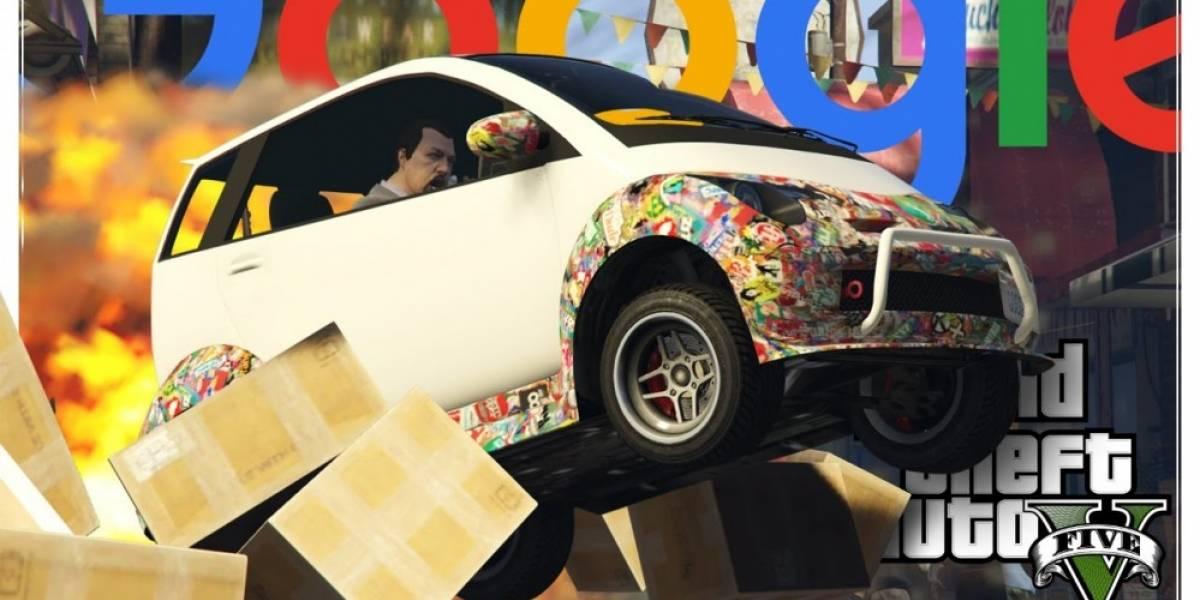 El coche autónomo de Google causa terror en GTA V
